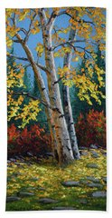 Autumn Birches Hand Towel