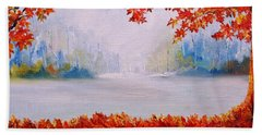 Autumn Blaze Maple Trees Bath Towel
