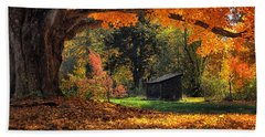 Autumn Brilliance Hand Towel by Tricia Marchlik