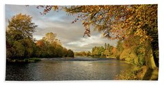 Autumn By The River Ness Bath Towel by Jacqi Elmslie