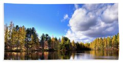 Bath Towel featuring the photograph Autumn Calm At Woodcraft Camp by David Patterson