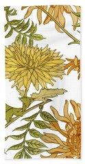 Autumn Chrysanthemums II Bath Towel