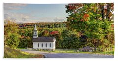 Autumn Church II Bath Towel