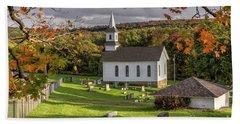 Autumn Church Bath Towel