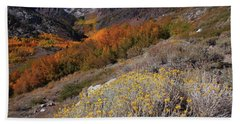 Autumn Colors At Mcgee Creek Canyon In The Eastern Sierras Bath Towel