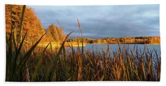Autumn Colors At The Lake Enajarvi Bath Towel