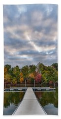 Autumn Colors At The Lake Hand Towel