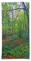 Hand Towel featuring the photograph Autumn Colours by Anne Kotan