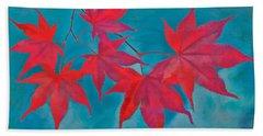 Autumn Crimson Bath Towel
