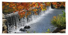 Autumn Dam Bath Towel by Debbie Stahre