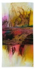 Hand Towel featuring the painting Autumn Dream by Mary Sullivan