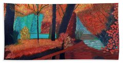 Bath Towel featuring the painting Autumn Dreams by Magdalena Frohnsdorff