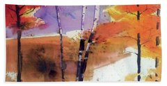 Bath Towel featuring the painting Autumn by Ed Heaton