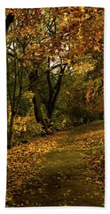 Autumn / Fall By The River Ness Bath Towel by Jacqi Elmslie