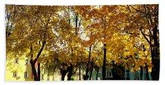 Autumn Festival Of Colors Bath Towel by Henryk Gorecki