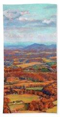 Autumn Fields Bath Towel