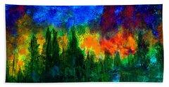 Autumn Fires Bath Towel by Claire Bull