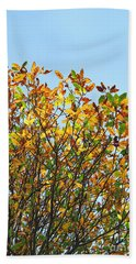 Autumn Flames - Original Hand Towel