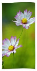 Hand Towel featuring the photograph Autumn Flowers by Byron Varvarigos