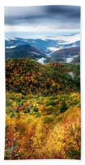 Autumn Foliage On Blue Ridge Parkway Near Maggie Valley North Ca Hand Towel
