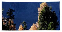 Autumn Forest In The Mountains Hand Towel