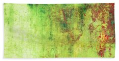 Autumn Forest Mist - Pastel Abstract Landscape Art Bath Towel