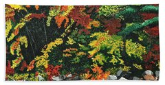Bath Towel featuring the painting Autumn Frost by Donna Blossom