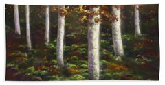 Hand Towel featuring the digital art Autumn Ghosts by Amyla Silverflame