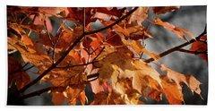 Hand Towel featuring the photograph Autumn Gray by Kimberly Mackowski