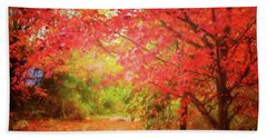 Glorious Foliage On The Rail Trail Hand Towel