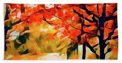 Glorious Foliage On The Rail Trail - Abstract Hand Towel