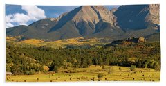 Autumn Hay In The Rockies Bath Towel