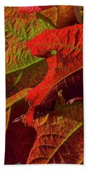Autumn Hydrandea Bath Towel