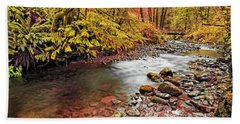 Autumn In An Oregon Rain Forest  Bath Towel
