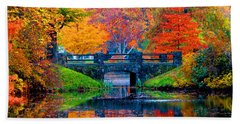 Autumn In Boston Hand Towel