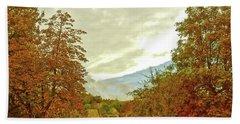 Bath Towel featuring the photograph Autumn In Chesham by Anne Kotan