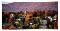 Autumn In Danville Vermont Hand Towel by Sherman Perry