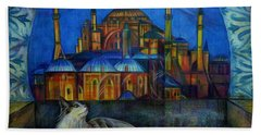 Autumn In Istanbul Hand Towel by Anna Duyunova