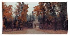 Autumn In Montana Bath Towel by Cathy Anderson