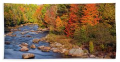 Autumn In New Hampshire Hand Towel by Betty Denise