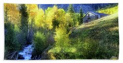 Bath Towel featuring the photograph Autumn In Ophir - Colorado - Aspens by Jason Politte