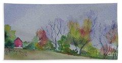 Autumn In Rural Ohio Bath Towel by Mary Haley-Rocks
