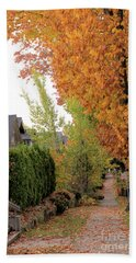 Autumn In The City Hand Towel