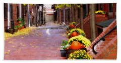Bath Towel featuring the photograph Autumn In The North End by Bruce Carpenter