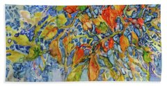 Hand Towel featuring the painting Autumn Lace by Joanne Smoley