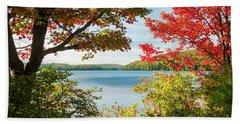 Bath Towel featuring the photograph Autumn Lake by Elena Elisseeva