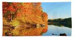 Autumn Lake Hand Towel