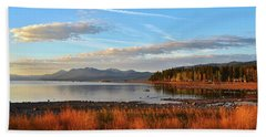 Autumn Lake Tahoe Hand Towel