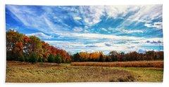 Bath Towel featuring the photograph Autumn Landscape by Nikki McInnes