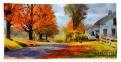 Autumn Landscape Hand Towel by Sergey Lukashin